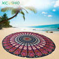 2016 Printed Mandala Round Beach Blanket Beach Mat Outdoor Camping Mattress Sexy Swimming Cover Up for Women