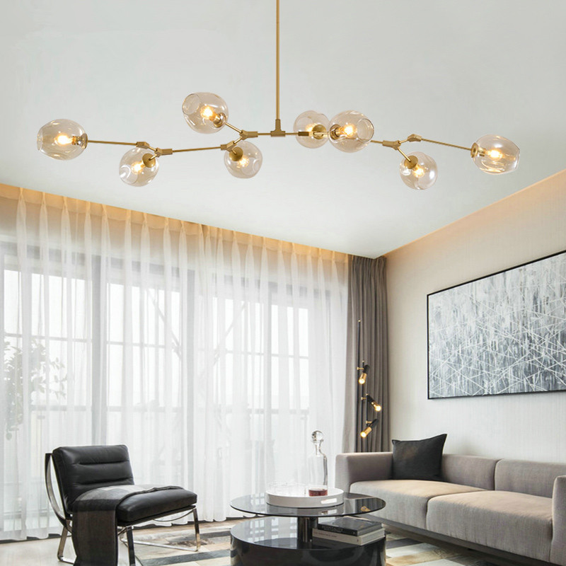 Scandinavian Living Room Lighting Creative Modern Simple Industrial Wind Restaurant Bedroom Magic Bean Molecular Chandelier Pendant Lights Aliexpress
