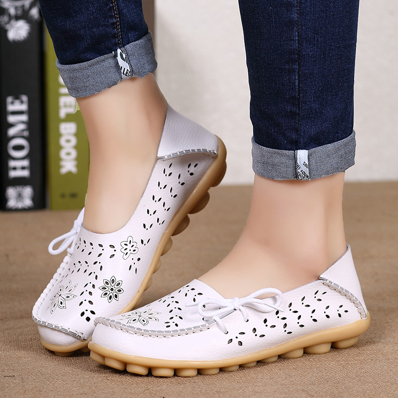 Women flats Discounts Fashion Genuine Leather Casual Loafers Women Shoes Summer Autumn Shoes Flats with Hollow Out Ballet FlatsWomen flats Discounts Fashion Genuine Leather Casual Loafers Women Shoes Summer Autumn Shoes Flats with Hollow Out Ballet Flats