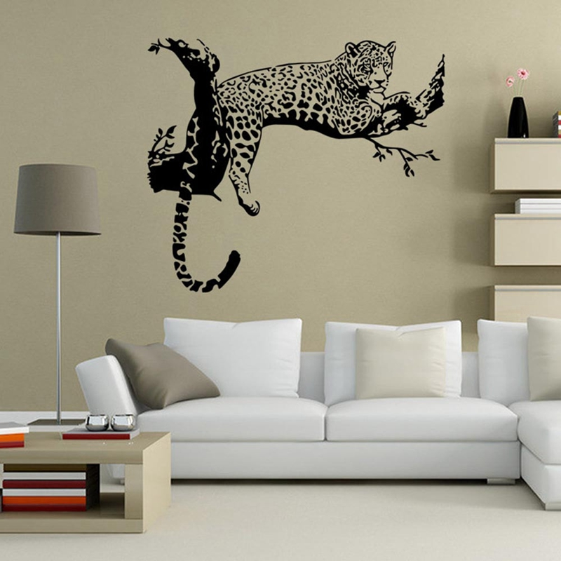 Nice Black Leopard Tree Sticker Bedroom Living Room Walls Wall Stickers Home  Decor Pegatinas De Pared Kitchen