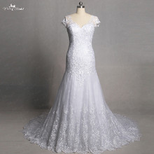 RSW1353 Real Pictures Yiaibridal Cap Sleeve Wedding Dress