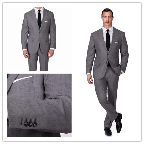 New Arrival Tailor Made Slim Fit Suits For Men Light Grey