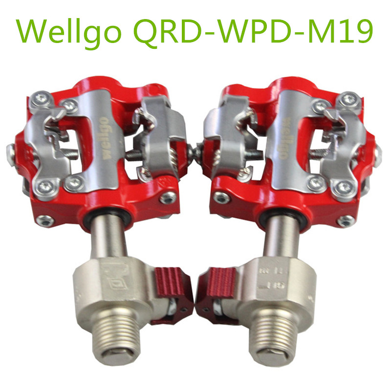 Wellgo QRD WPD M19 Mountain Bike Pedals MTB Quick Release Pedal Aluminium Alloy 6061 CNC Self