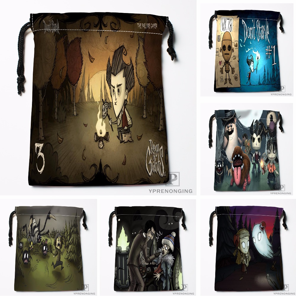 Custom Don't Starve Drawstring Bags Travel Storage Mini Pouch Swim Hiking Toy Bag Size 18x22cm#0412-03-10