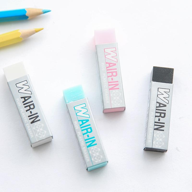 4 Pcs/Lot Wair In Plastic Erasers Plus Magic Eraser For Pencil Stationery Office School Supplies Gomas De Borrar F981