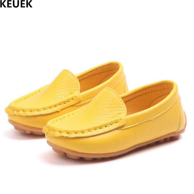 6e98cf01b64382 New Children Casual Shoes Boys Girls Breathable Leather Shoes Baby Slip-On  Loafers Spring/