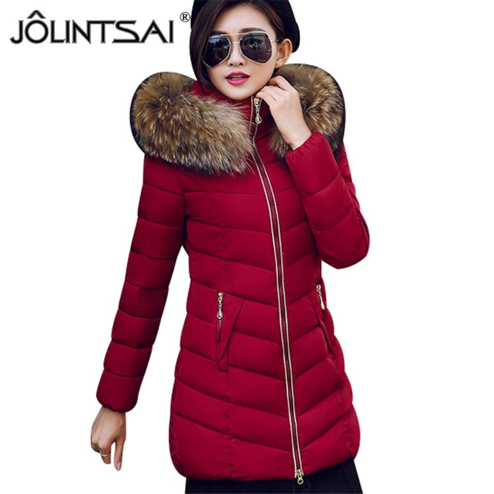 ФОТО New Jackets&Coats 2017 Newest Winter Jacket Women Parka Slim Thicken Warm Cotton-padded Female Cotton Coat Plus Size XXXL