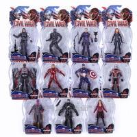 Marvel Legends Avengers Guerre Civile Captain America Iron Man Noir veuve Noir Panthère Sorcière Écarlate Ant Man PVC Action Figure jouet
