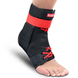 Kuangmi 2 PC Ankle Support Brace Guard Sports Running Compression Ankle Sleeve Adjustable Ankle Straps Sprained Ankle Protector