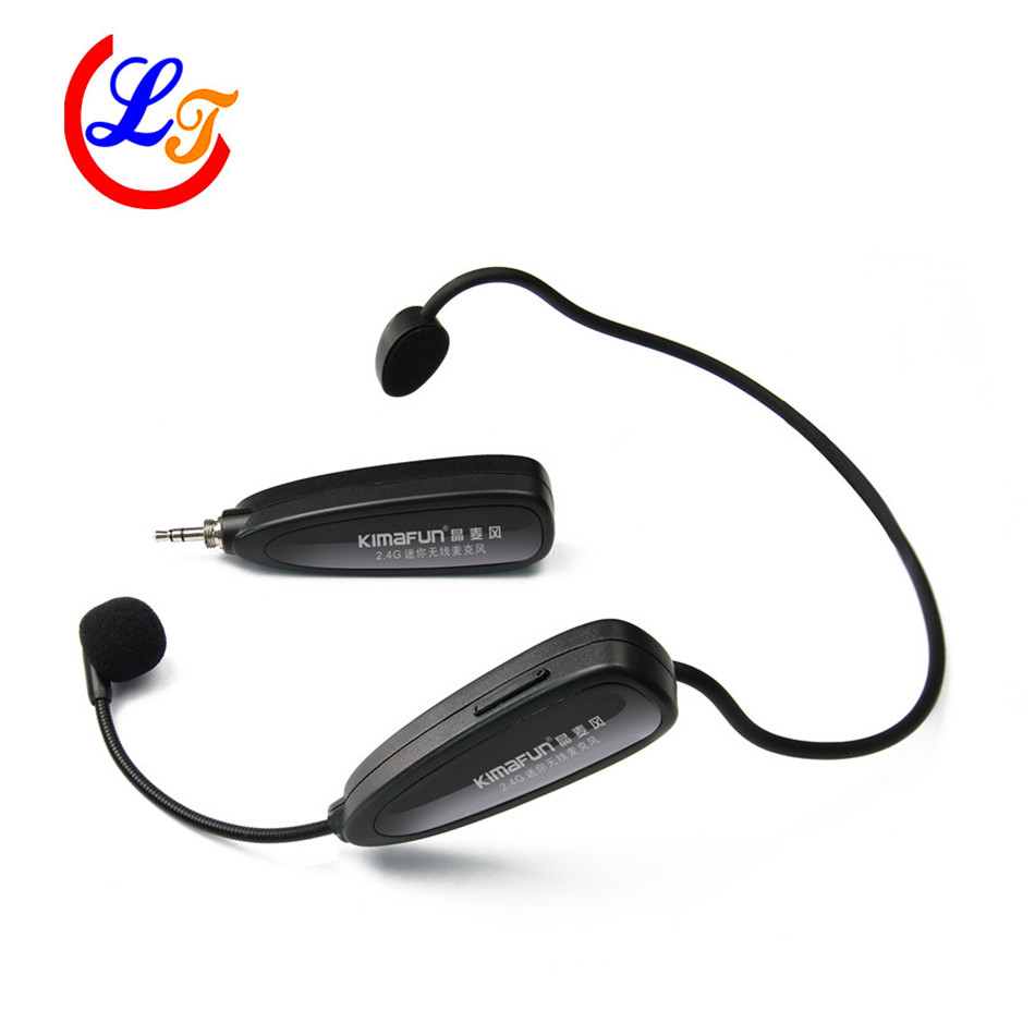 Professional Updated 2.4G Wireless Headset Condenser Microphone Stereo Microfone for Amplifer Computer Speaker Microphones  professional waterproof condenser microphone sport headset microfone for sennheiser wireless system trs 3 5mm screw jack mic