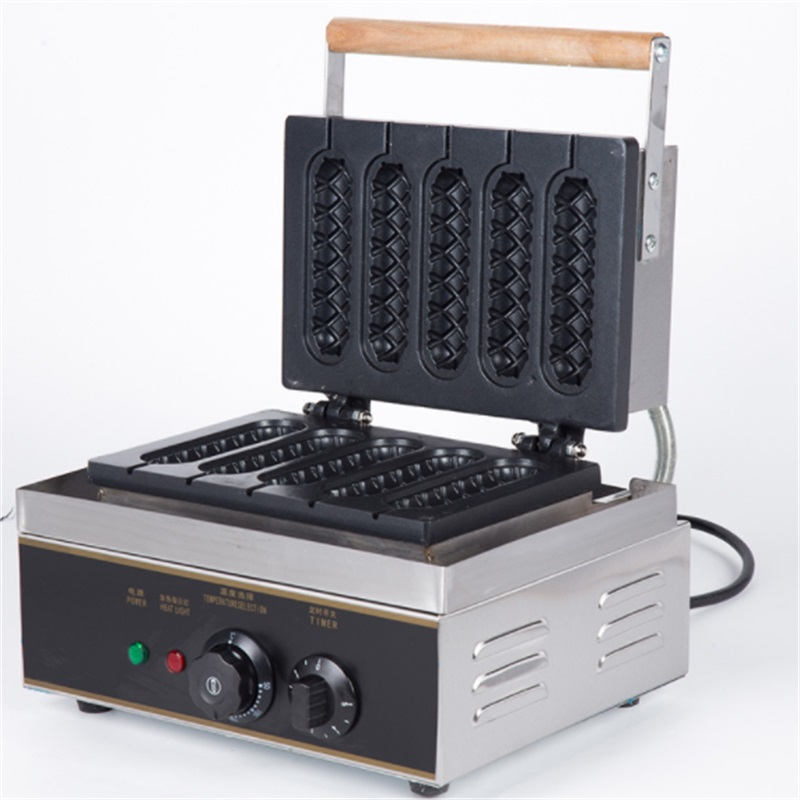 Electric 5pcs commercial muffin waffle maker corn hot dog machine,french hot dog making machines for sale Electric 5pcs commercial muffin waffle maker corn hot dog machine,french hot dog making machines for sale