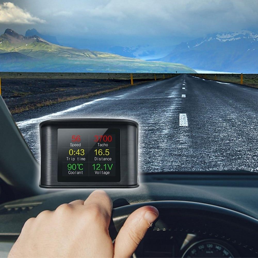 On-board Driving Computer OBD Smart Digital Meter Speed Voltage RPM Fuel Consumption Meter HD Heads Up Display Car HUD стоимость