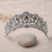 New Luxurious Women Tiara For Brides Crystal Crown Baroque Style Rhinestone Hairwear Wedding Party Dress Accessories