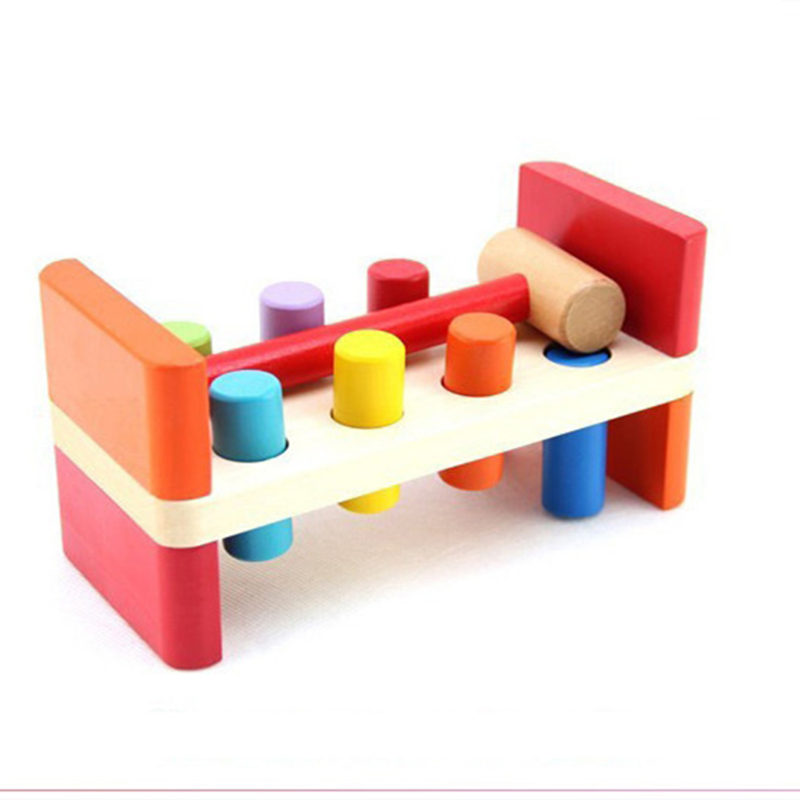 Color piling table toys 6-12 months 1-2 years old baby puzzle early education CM07 infants and young children baby gift imported wood color large blocks 1 2 3 6 years old early childhood educational toys