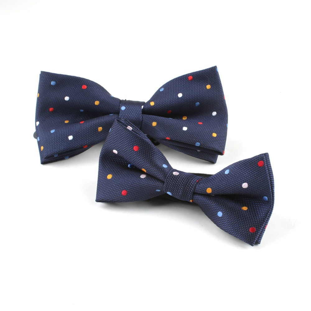edec64834173 Aliexpress.com : Buy Fashion Colorful Dot 2pcs/set Dad & Child Boy's  Adjustable Bow Tie Wedding Bowties Groom Prom Party Father Son Cravate  Homme from ...