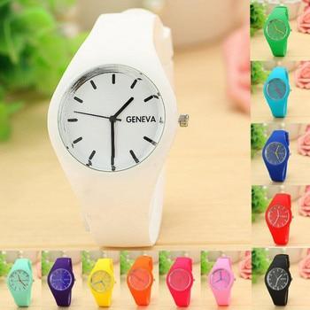 2019 Fashion Brand Silicone Women watch Quartz Casual watch Style Women Dress watch Jelly Wristwatch For Women Relogio Feminino 2