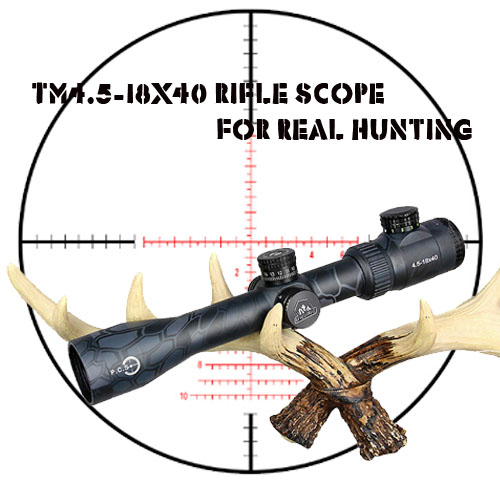 Canislatrans Military Two Style Tactical TM4.5-18x40 4.5X-18X Magnification Rifle Scope For Hunting  CL1-0287 modern usb 4 x aaa powered wooden green led alarm clock w temperature display white