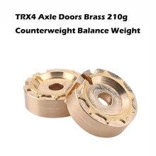 210g/2pcs TRX4 Axle Doors Brass Counterweight Balance Weight Portal Drive Housing for 1:10 RC Crawler Traxxas TRX-4  6.13 цены