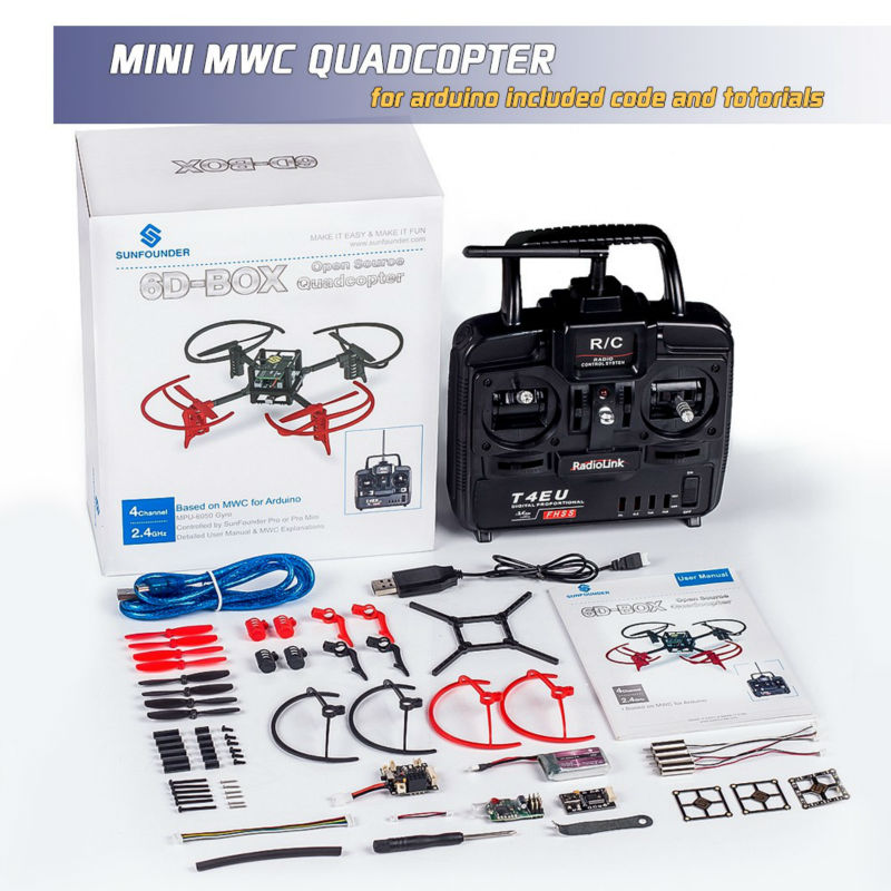 DIY Electronics Quad Drone Quadcopter 6D-Box MWC Multiwii Starter Kit For Arduino with 2.4GHz RC 6-Axis Gyro makeup tattoo machine gun rotary motor gun alloy shader liner permanent makeup assorted tattoo kit for power supply foot pedal