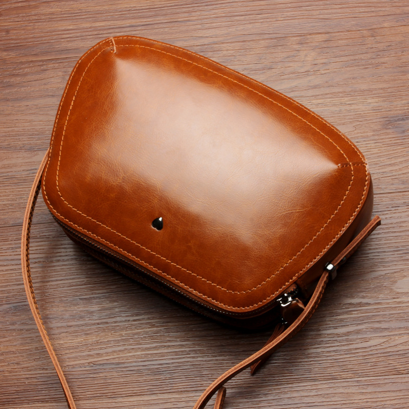 Simple Art Flap - Split Leather Cowhide Cute Women Shoulder bag Crossbody bags messenger bags Simple style gift for girls 100% genuine leather women shoulder bags simple fashion real skin cowhide simple messenger bags leisure female messenger bag
