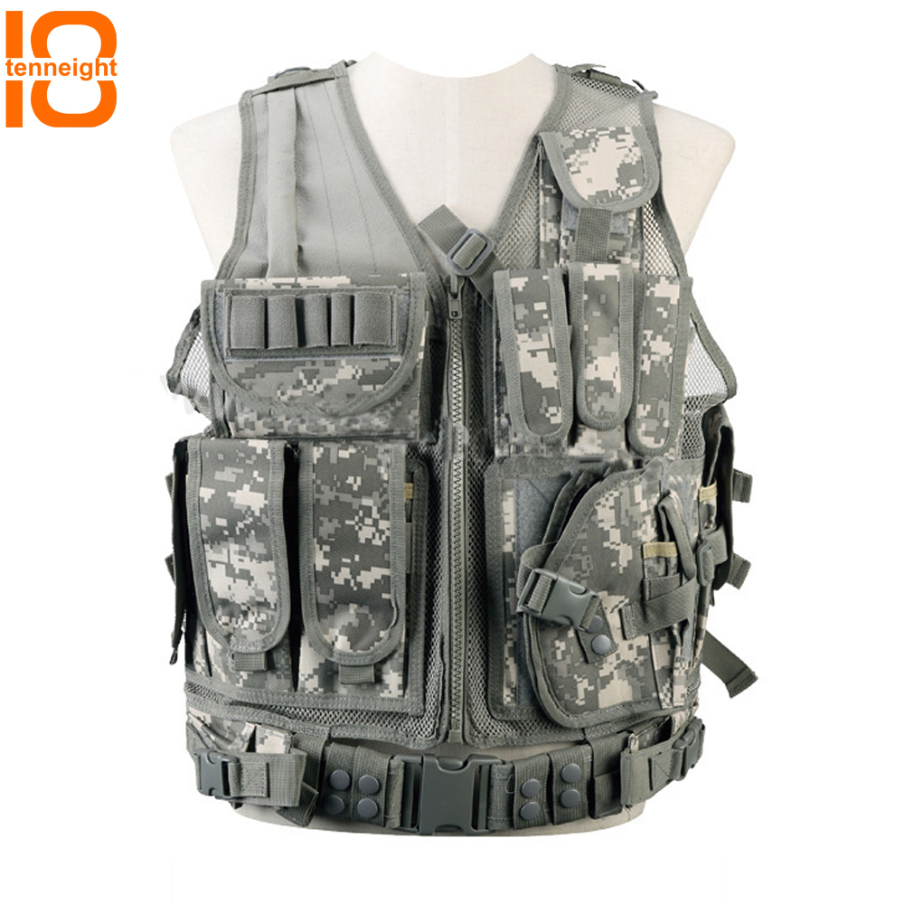 TENNEUGHT Tactical Vest Men CS field Military Hunting vest outdoor Paintball MOLLE Camouflage Vest protective equipment tactical vest 027 vest field cs vest apron vest military protective equipment