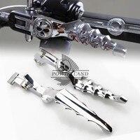 Chrome Billet Aluminum Skull Brake Clutch Skeleton Zombie Left Right Handlebar Lever Fits For Honda Shadow