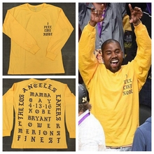 CHENXUAN 2017  Kanye West I Feel Like Kobe long sleeve commemorate T shirt