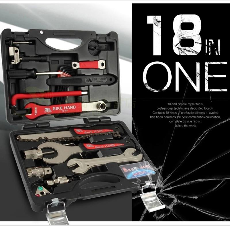 Bikehand Bicycle Repair Tool Kit 18 in 1 YC 728 Professional Bike Tool Box Shop Home