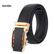 2017 men's fashion 100% Genuine Leather belts for men High quality metal automatic buckle Strap male Jeans cowboy JPH-25