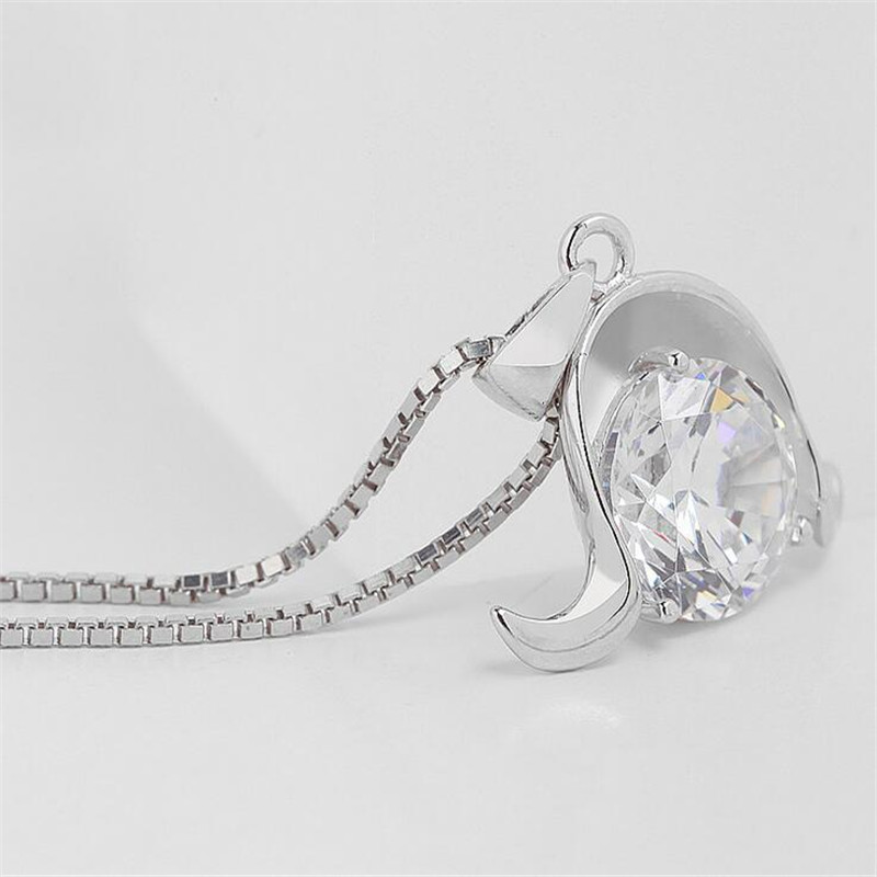 Fyla Mode 925 Sterling Silver Jewelry Constellation Aries Pendants Necklaces For Women Gifts Fine Quality Jewelry PSB045 in Pendant Necklaces from Jewelry Accessories