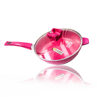 Stone Powder Color Pan Non Stick Frying Pan No Fumes From Frying Pan Cooker Gas Universal
