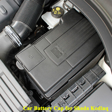 1pc ABS Car Battery Cap Cover Positive Negative Electrode Anode Cathode Protector Accessories for Skoda Kodiaq