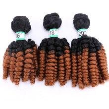 Синтетические волнистые накладные волосы с эффектом омбре 3