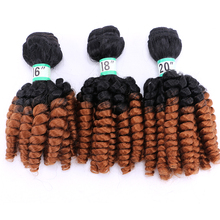 Synthetic Afro Ombre spring twist hair bundles extension 3 pieces one lot weaving for full head Dream ice's