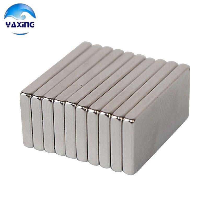 10PCS Bulk Super Strong Neodymium Rectangle Magnets 20mm x8mm x 2.5mm Rare Earth NdFeB Rectangular Cuboid Magnet 10050044w diy rectangular ndfeb magnets silver 30 x 20 x 5mm 2 pcs