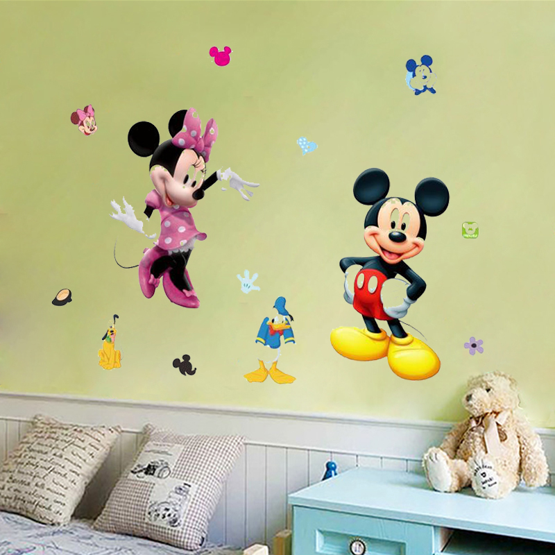 Mickey Mouse Minnie Vinyl Wall Stickers For Kids Rooms Nursery Home ...