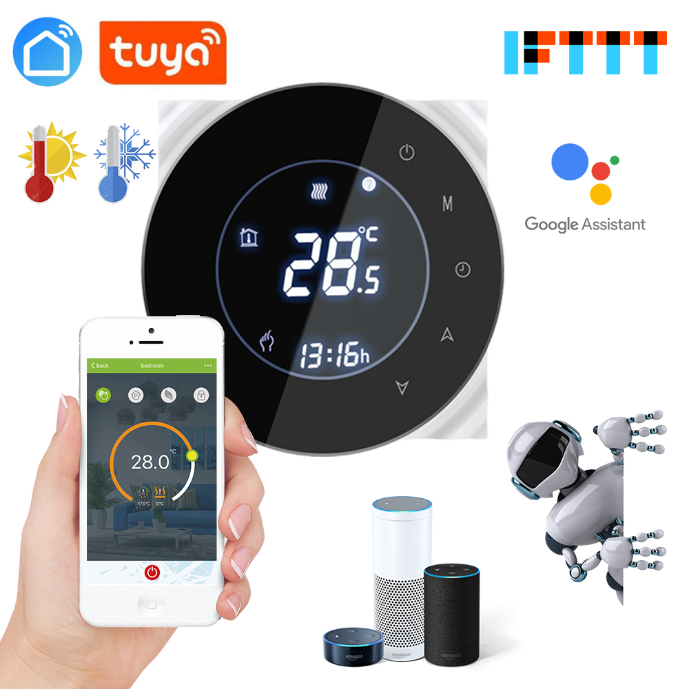 Tuya App 3A Multifunction Passive Connection,Water Valve,Electric Actuator Gas Boiler Thermostat Wifi For Dry Contact Relay
