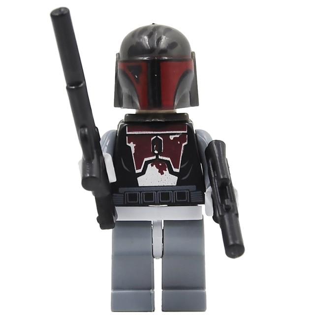 50PCS Star Wars White New Mandalorian Figure Jango Fett Pre Vizsla building blocks Starwars Toys