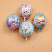5 шт./лот 4D 22 дюймов единорог; Фламинго фольга Свадебный шар Декор для вечеринки в честь Дня рождения воздушный шар для Бэйби Шауэр вечерние Поставки Дети игрушка в подарок