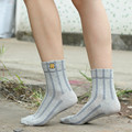 Calcetines nuevos calcetines de invierno calcetines a rayas de algodón calcetines de la señora