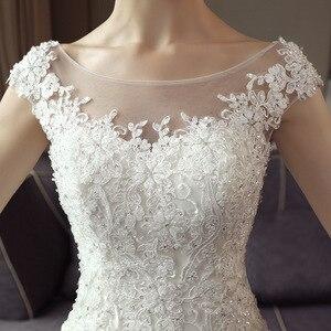 Image 3 - Vestido De Noiva 2020 Mrs Win Die Braut Oansatz Gericht Zug Luxus Spitze Stickerei Meerjungfrau Prinzessin Luxus Hochzeit Kleid F