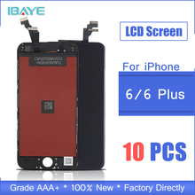10 PCS AAA quality Replacement For iphone 6 Plus LCD 4.7 inch display Screen Digitizer Assembly NO Dead Pixel i phone 6 Screen