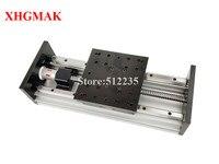 GX150*150mm Ballscrew 1605 1610 100mm 300mm Effective Travel Stage Linear Guide Motion Moulde Linear double blocks