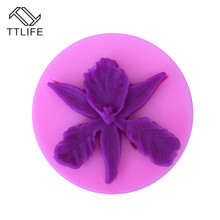 TTLIFE 3D Flower Leaves Petal Silicone Cutter Fondant Cake Decorating Tools Pastry Chocolate Cupcake Mold Kitchen Baking Mould