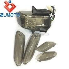 오토바이 LED 테일 라이트 APRILIA RSVR RSV1000R RSV 1000 r에 대 한 후면 중지 램프 연기 브레이크 라이트 + 4 차례 신호 렌즈 2006 2009