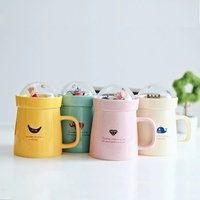 Milch tasse hitzebeständigem glas becher familie schöne frühstückstasse kaffeetasse mit deckel-in Tassen aus Heim und Garten bei