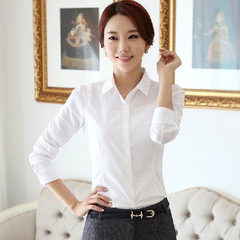 Women Summer Autumn Plus Size 5XL Femme Women Tops Office Career Shirts Long Sleeve Lapel School Leisure Korean 2018 Femme Blusa