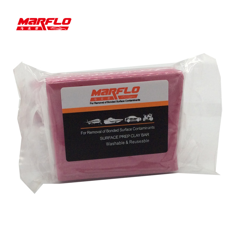 Marflo 5pcs/lot Magic Clay Bar Light Cutting Grade Pink 200g Auto Car Paint Care Cleaning Detailing Washing Before Car Styling(China)
