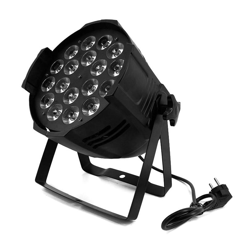 Aluminum Alloy LED Par 18x18W RGBWA+UV 6in1 LED Par Can Par Led Spotlight DJ Projector Wash Lighting Stage Lighting led par 18x15w rgbwa 5in1 led par can par led spotlight dj projector wash lighting stage uplight aluminum alloy