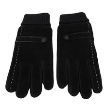 2017 Winter Men Leather font b Gloves b font Driving Motorcycle Biker Full Finger Warm font